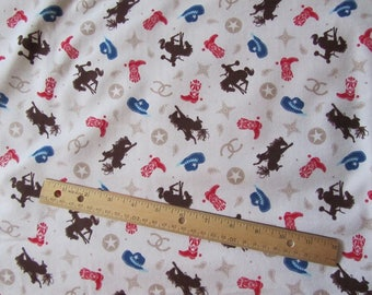 Tan/Brown Cowboy/Rodeo Riley Blake  Flannel Fabric  by the Yard
