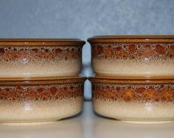 Mikasa Nature's Song Set of 4 Bowls - Vintage - 1975-1976 - Ceramic / Stoneware - Fruit / Dessert Bowl - Sauce Bowl - Excellent Condition