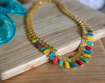 multicolor necklace Tribal necklace, Ethnic boho necklace, African necklace, african jewelry, egypt necklace, Massai necklace