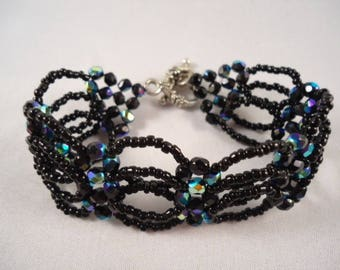 Bracelet black 'night' beads