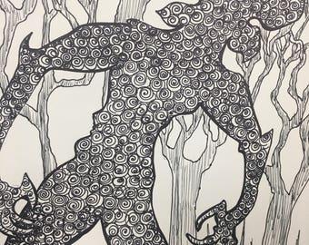 Stranger Things demogorgon Drawing!