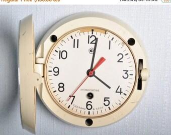SALE Soviet clock - Working - Ship Clock ,Vintage Clock, NAVY Clock, Mechanical clock