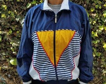"""Vintage Janeve """"Nautical"""" Windbreaker Jacket - 80's / 90's"""