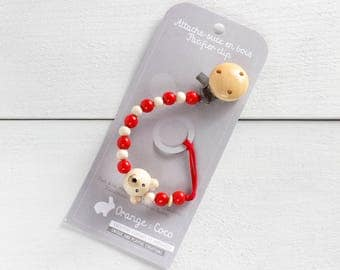Pacifier clip, red pacifier clip, christmas pacifier holder, soothie clip, custom pacifier clip, boy pacifier clip, dummy clip,