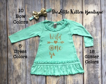 Girls First Birthday, First Birthday Dress, 1st Birthday Outfit, First Birthday Shirt, First Birthday Party, Wild One, Girls birthday dress