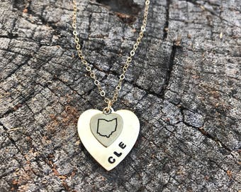 Cleveland That I Love Necklace, Cleveland Necklace, CLE Necklace, This Is CLE