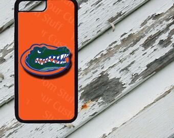 Orange Florida GATORS Design on iPhone  5 / 5s / 5c / 6 / 6 Plus/7 / 7 Plus Rubber Silicone Case