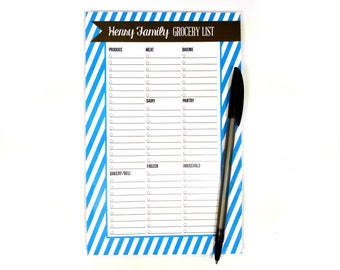 Personalized Grocery List Pad - Design your own - Magnet Included