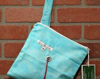 Knitting Bag, Crochet, Knit, Yarn, Wool, Blue, Yarn Storage, Yarn Bag with Hole, Grommet, Handle, SYB111