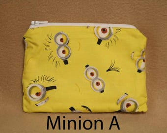 One Snack Sack, Minions, Reusable Lunch Bags, Waste-Free Lunch, Machine Washable, Back to School, School Lunch, item #SS56