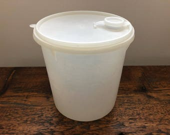 Vintage Tupperware Sheer Jumbo Canister Container w/ Pour-All Seal and Spout 254, 565, 510