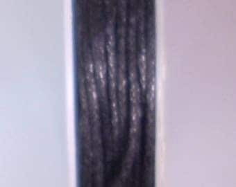 1 METER OF COTTON WAXED 1 MM BLACK
