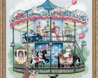Cross Stitch Kit - Carousel