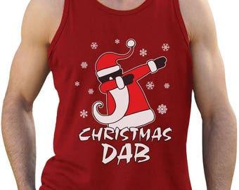 Dabbing Santa Christmas Dab Funny Xmas Singlet