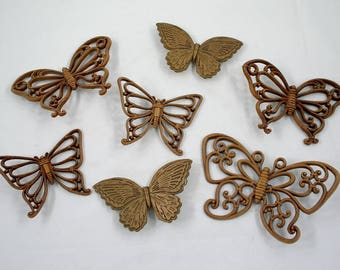 Vintage Homco Butterfly Wall Hanging Collection