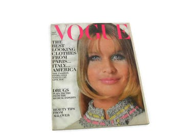 Vintage Vogue Magazine * September 15 1968 * Clothes from Paris, Italy and America