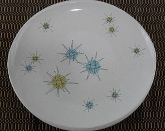Vintage Franciscan Starburst Dinner Plate* Atomic Age Plate * Mid Century Dishes