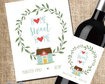 Housewarming Gift, Housewarming Wine Label, New Home Wine Label, New Home Gift, Housewarming Party Wine Label, Housewarming Personalize Gift