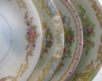 Vintage Shabby Mismatched China Dessert / Fruit Bowls for Tea Party, Bridal Luncheons, Showers, Hostess Gift, Bridesmaid Gift- Set of 4