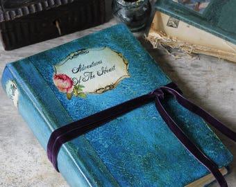 Teal wedding guest book, destination wedding scrapbook, beach memories photo album, blue wedding guestbook. 8.5x6 inches FREE SHIPPING