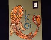 Koi - Hand Drawn Journal