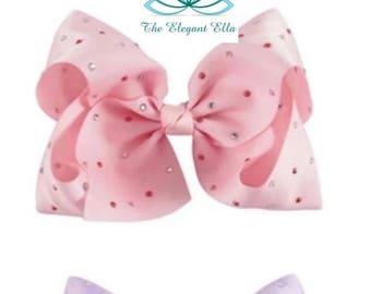 Hair bow, 7 inch jojo hair bows, big bows, grosgrain ribbon bow, ribbon bow