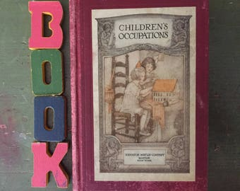 Children's Occupations, 1920, Ideas to Keep Kids Busy, Sweet Color Photos, Dolls, Crafts, Villages, Scrapbook, Nature, Pottery, Paper Crayo