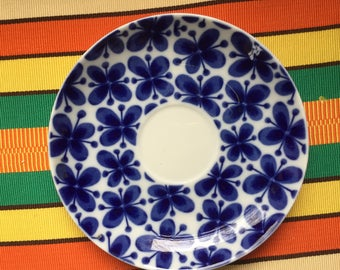 Vintage Swedish Saucer, Mon Amie, Rorstrand, Sweden, Blue White, MCM, Collectible, Display, Gift, Collectible, Iconic