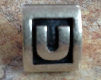 25% OFF Pandora Alphabet Initial Charm Letter U Marked ALE S925 Authentic Good Look!