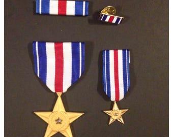 Gulf war era us silver star 4 piece set