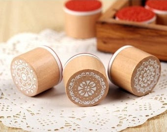 Pattern srapbooking lace wooden rubber stamp