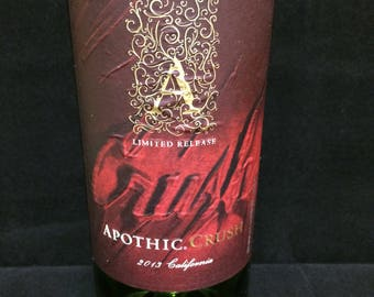 "Apothic ""Crush"" scented wine bottle candle - made to order"