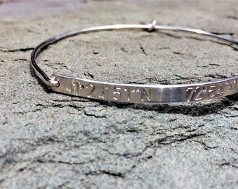 Custom Silver Coordinate Bracelet - Perfect for Jewelry Personalization
