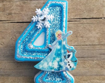 Elsa Birthday Candle, Frozen Birthday Candle, Elsa candle, Frozen candle