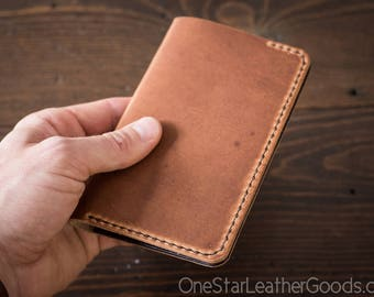 """Notebook cover, 3.5 x 5.5"""", Field Notes cover - chestnut Horween Dublin / brown"""