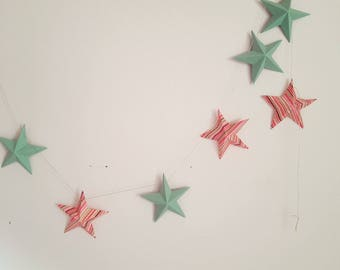 "The ""8 magic stars"" paper Garland with multicolor stripes"