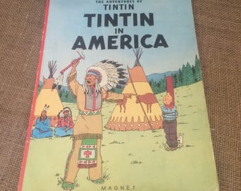 The Adventures of Tintin in America comic book 1980