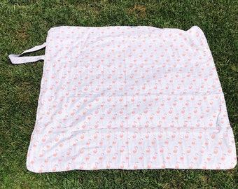 Flamingo  Blanket • Beach Blanket • Baby Blanket • Travel Blanket • Flamingo Blanket • Terry Cloth • Picnic Blanket • BizyBelle