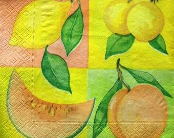 """Yellow Fruits"" towel"