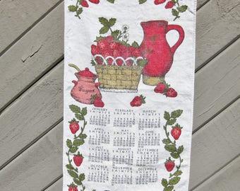 Linen Tea Towel Calendar, 1969 Bill Brister