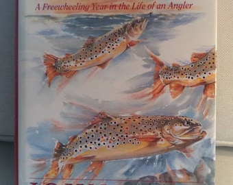Fishing book, Chasing Fish Tales A Freewheeling Year in the Life of an Angler by John Holt signed 1993 First Edition