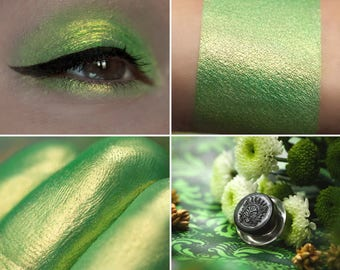 Eyeshadow: Instructing of Cicadas - Druidess. Delicate lime eyeshadow by SIGIL inspired.