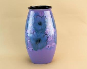Purple Poole Pottery Flower Vase Large Vintage English Late 20th Century