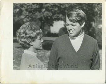 Robert Kennedy with friend vintage photo