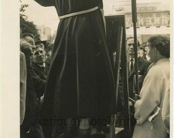 Priest preaching in Hyde Park London UK vintage photo