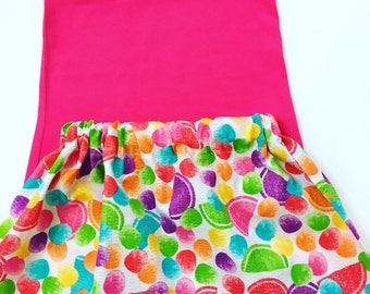 Girls Summer Skirts, Girls Multi Colored Skirts, Girls Birthday Outfit, Baby Girl Skirt Outfit, Skirt Sets For Girls,  Toddler Summer Skirt