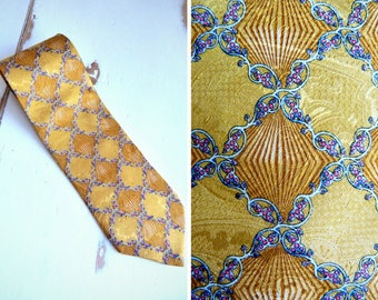 KOLTE yellow silk tie