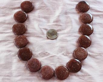 Loose cinnamon agate beads