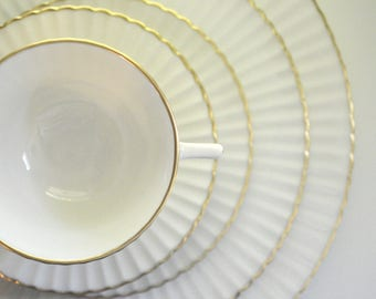 Lenox Colonnade Gold, 9 Place Settings, 12 Cups and Saucers, 60 Pieces,  FREE Shipping