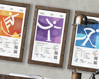 Choose your own 2018 Winter Olympics Event Oversize Ticket Poster